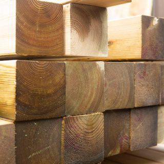 Blocks of wood stacked up